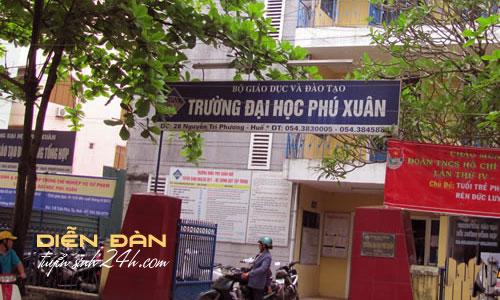 Điểm Chuẩn Đại Học Dân Lập Phú Xuân