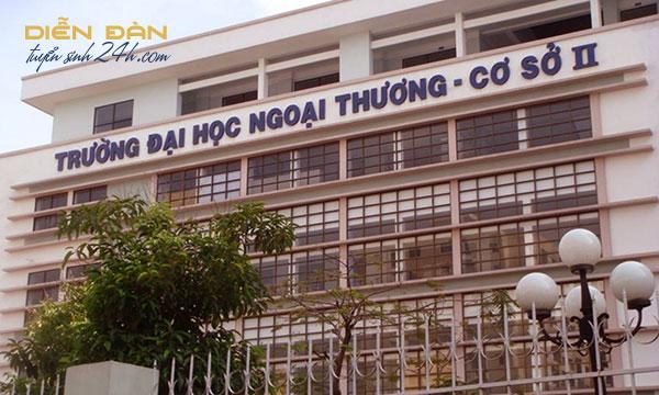 Thông Tin Tuyển Sinh Trường Đại Học Ngoại Thương Cơ Sở 2 Tại TPHCM 2020