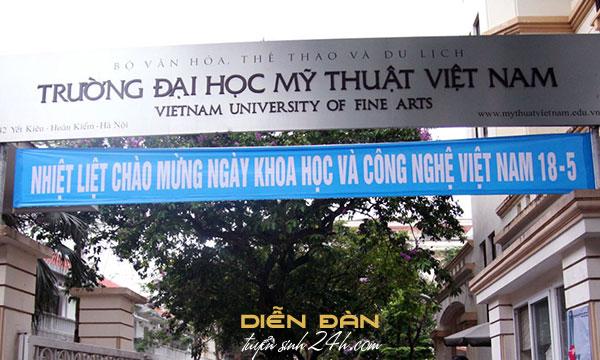 Thông Tin Tuyển Sinh Đại Học Mỹ Thuật Việt Nam 2020