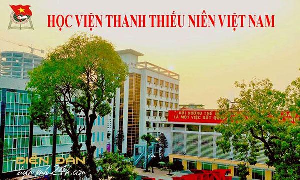 Thông Tin Tuyển Sinh Học Viện Thanh Thiếu Niên Việt Nam Năm 2020