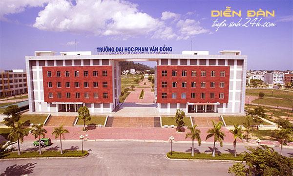 Thông Tin Tuyển Sinh Đại Học Phạm Văn Đồng 2020