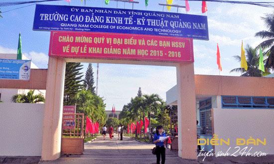 Thông Báo Tuyển Sinh Trường Cao Đẳng Kinh Tế - Kỹ Thuật Quảng Nam Năm 2020