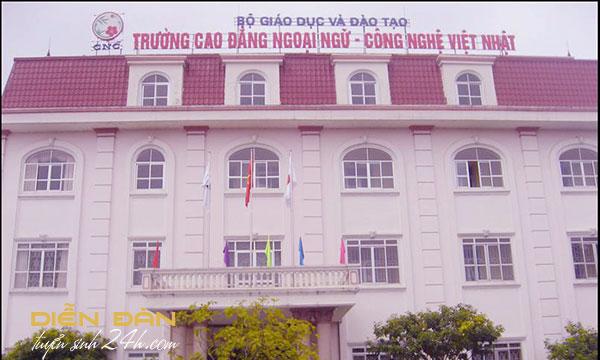Thông Tin Tuyển Sinh Cao Đẳng Ngoại Ngữ - Công Nghệ Việt Nhật 2021